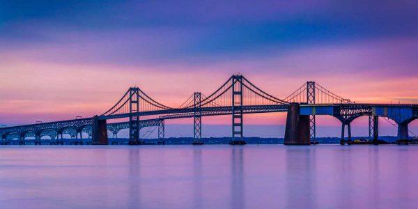 Chesapeake Bay Bridge at Night