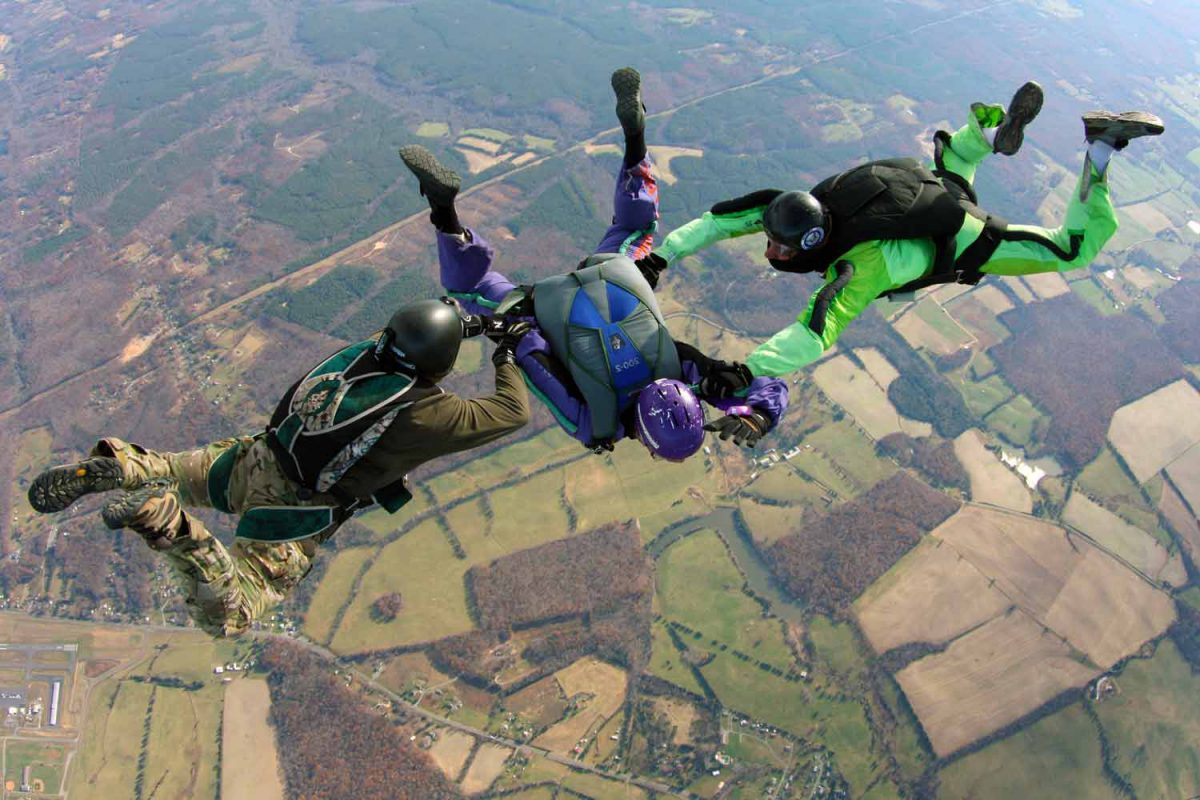 AFF Supervised Jump at Skydive Orange in Virginia