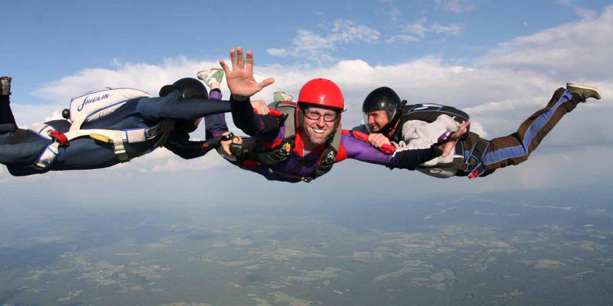 Student Skydiver in Skydive Orange AFF Skydiving Program