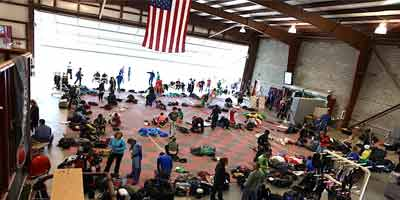 Inside the Skydive Orange Hangar