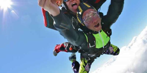 Skydive Orange Tandem Student in Freefall