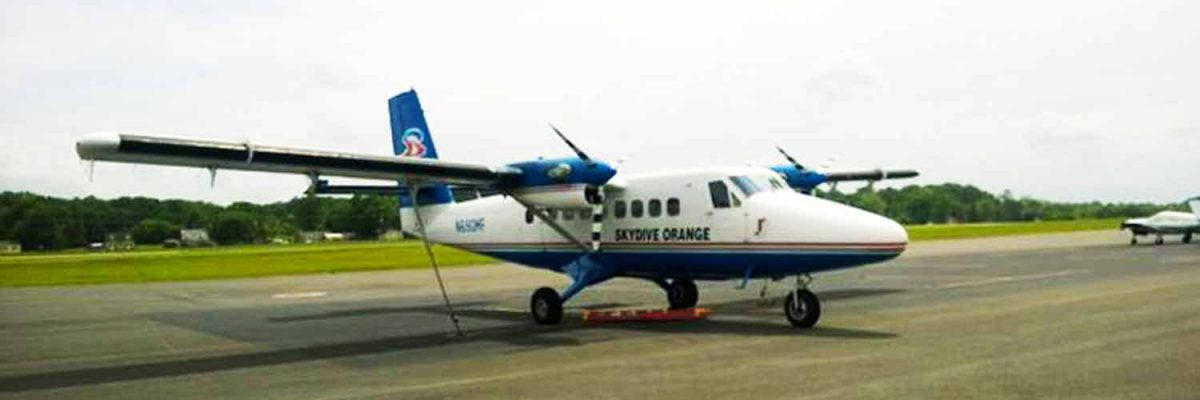 Skydive Orange Twin Otter Aircraft