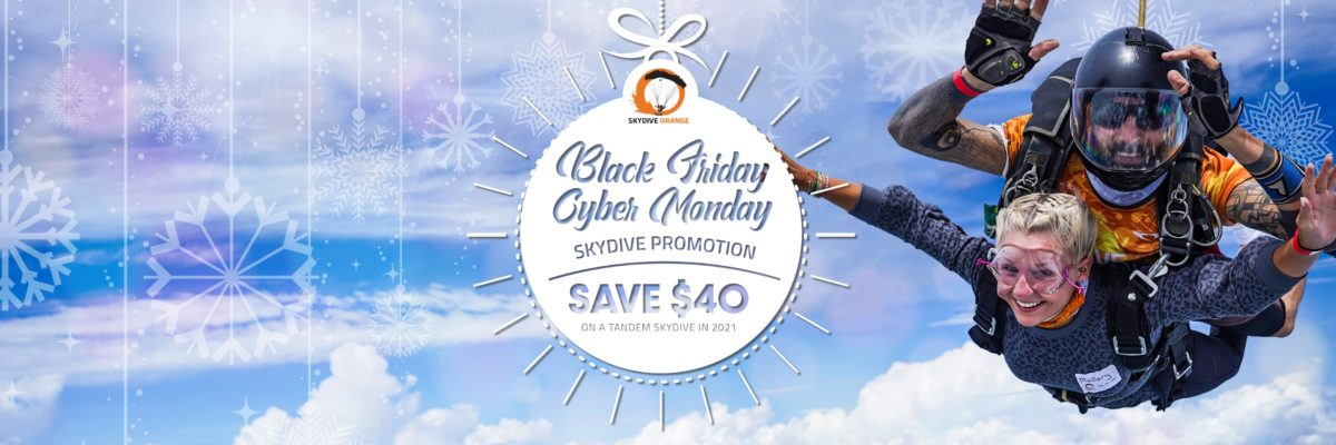 Save $40 OFF a Tandem Skydive