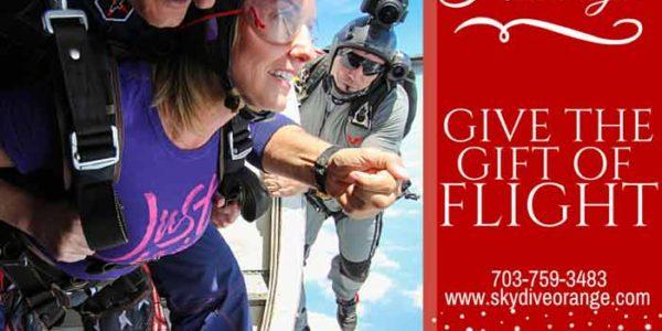 Skydiving Christmas Gift Skydive Orange