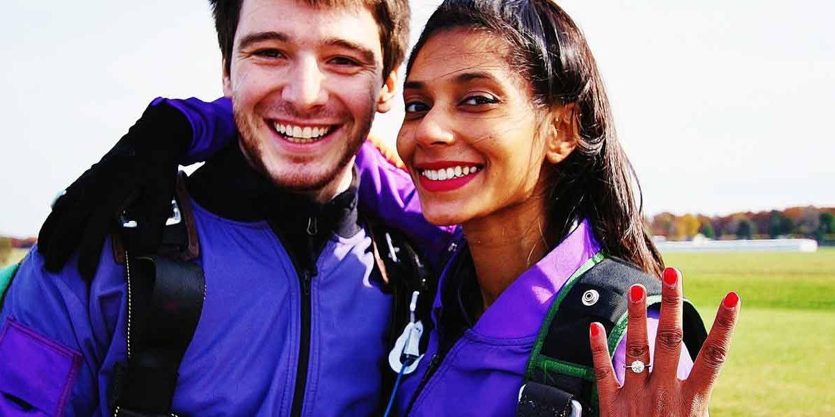 Skydiving Marriage Proposal at Skydive Orange in Virginia