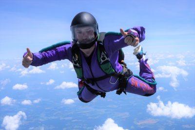 is skydiving safe   skydive orange
