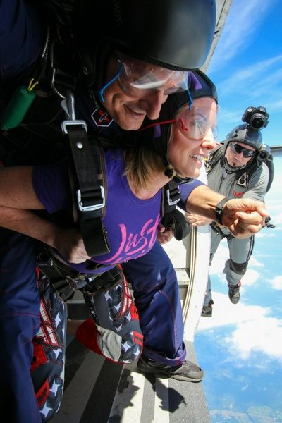 skydiving video flyer captures first jump