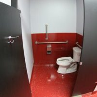 Clean Bathroom at Skydive Orange