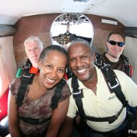 couple going skydiving at Skydive Orange
