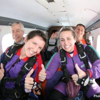 double thumbs up at skydive orange