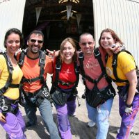 student photo before making skydive