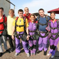 group of skydiving students