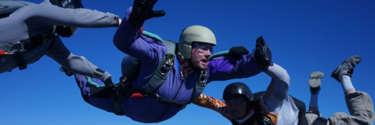 young man makes first jump towards becoming a certified skydiver