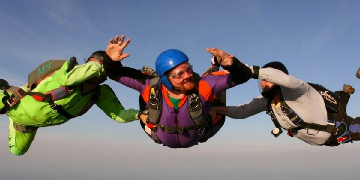 aff student learning to skydive