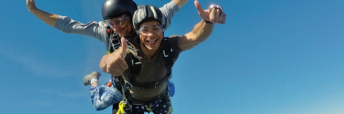 tandem student skydives safely in Orange, VA