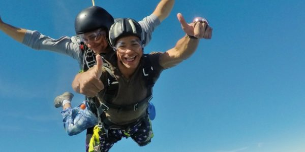 tandem student skydives safely in Orange, VA