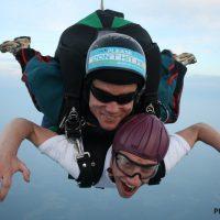 Phil in freefall over Skydive Orange in Virginia