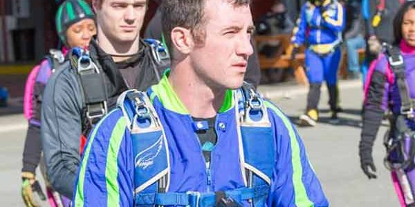 Pinecone Skydive Orange Videographer
