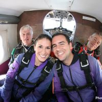 riding in skydiving jump plane