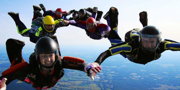 4-Way Formation Skydiving | Skydive Orange