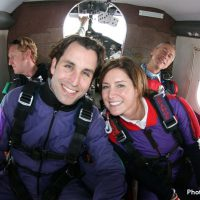 skydiving students in a twin otter plane
