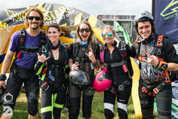 community of experienced skydivers at dropzone