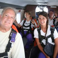 skydiving students in plane