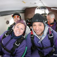 two friends going skydiving at Skydive Orange