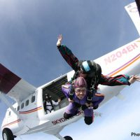 tandem skydive exit at Skydive Orange