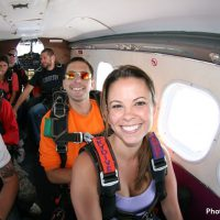 tandem student and instructor in plane
