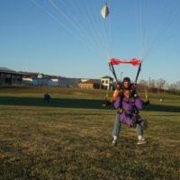 west virginia skydiving guest lands from skydive at Skydive Orange