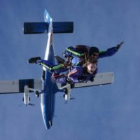west virginia skydiving guest exits plane at Skydive Orange