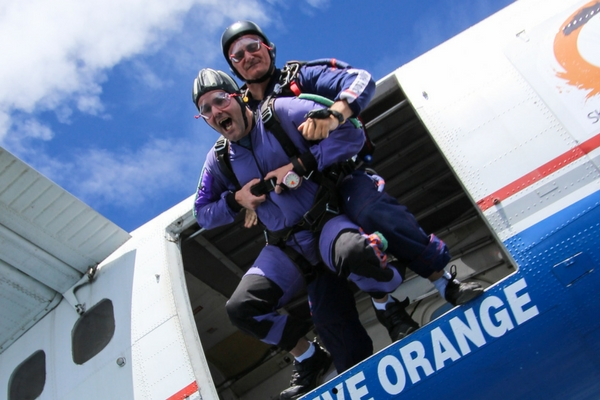 first time skydiver experiences feeling of skydiving freefall